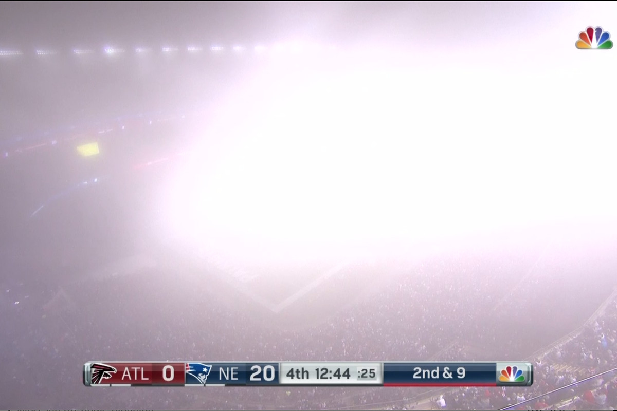 4ffb6816 Fog Bowl 2.0: Falcons-Patriots Blanketed By Broadcast-Blocking ...
