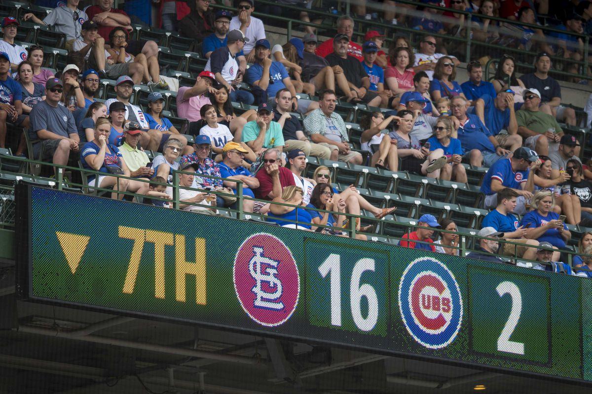美国职业棒球大联盟:圣路易斯红雀队对阵芝加哥小熊队
