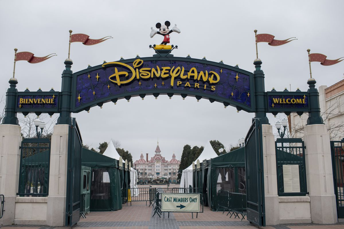 Disneyland Paris is temporarily closed following the spread of the novel coronavirus, Monday March 16, 2020 in Marne La Vallee, east of Paris. For most people, the new coronavirus causes only mild or moderate symptoms. For some it can cause more severe illness. (AP Photo/Rafael Yaghobzadeh)