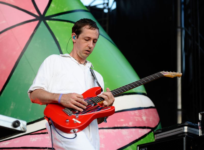 Josh Dibb of Animal Collective performs during 2013 Governors Ball Music Festival at Randall's Island in New York City.