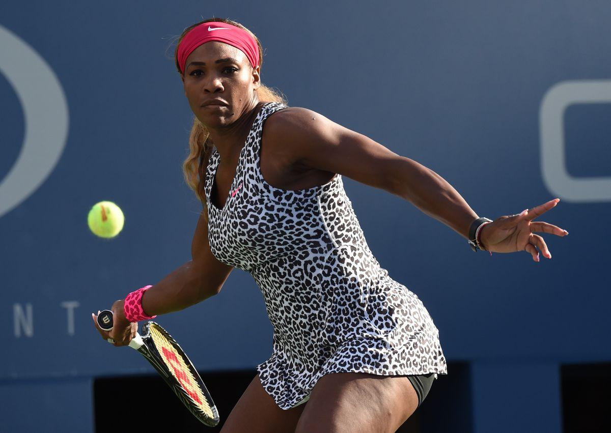 Serena Williams is a fan of leopard print.