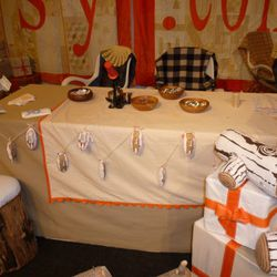 The Etsy craft booth - we could spend all day here making buttons and sewing ornaments.