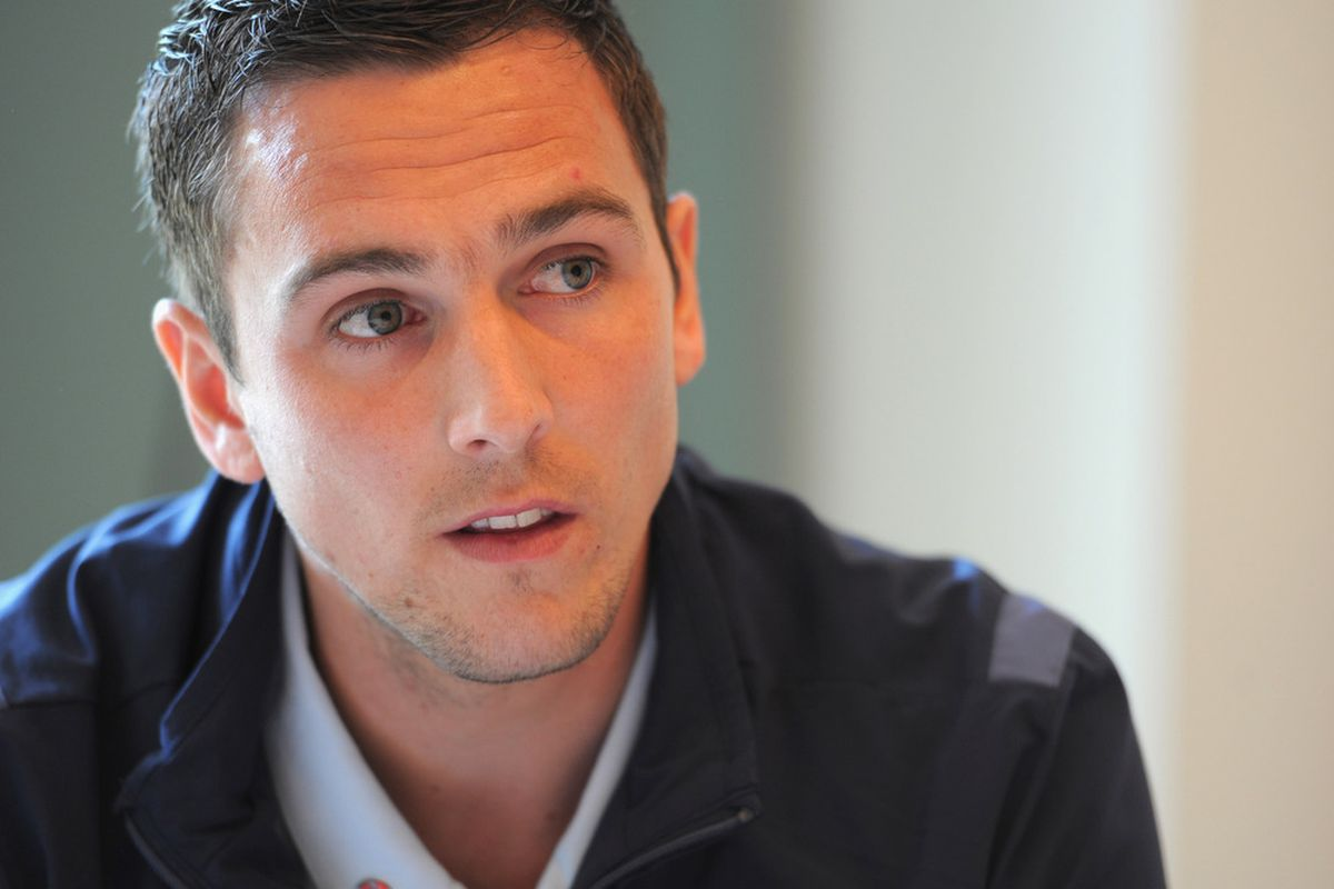 Possibly the most flattering photo ever taken of Stewart Downing.