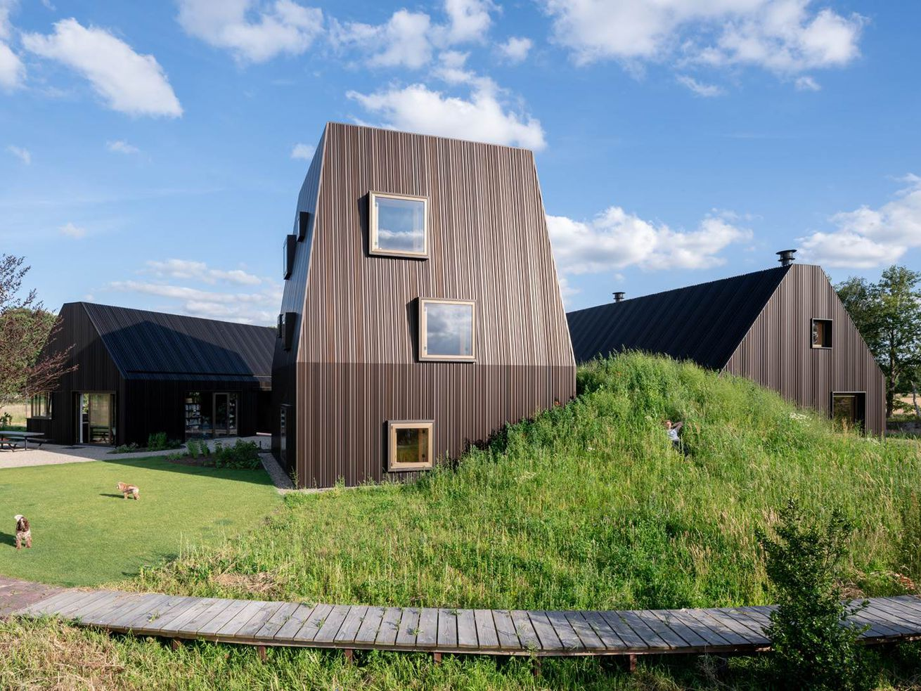 Dutch farmhouse designed to resemble a small village