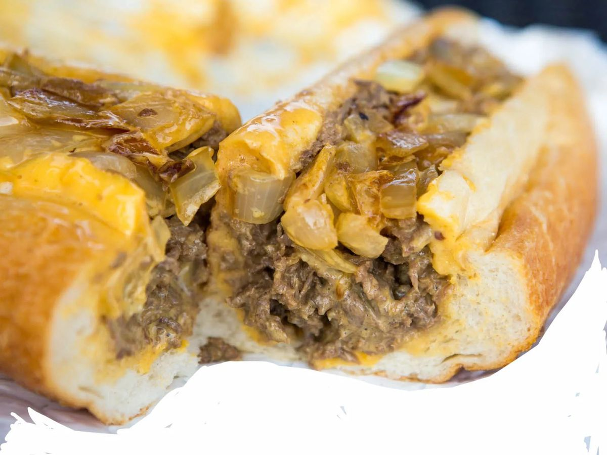 A Philly cheesesteak from Straight From Philly
