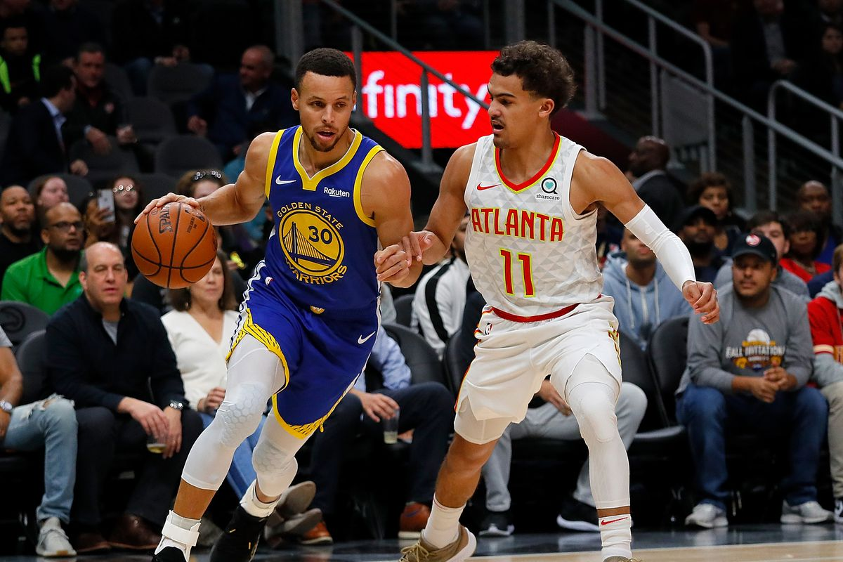 e65b93af1bb0 Warriors Breakdown  Trae Young gets a lesson from Steph Curry ...