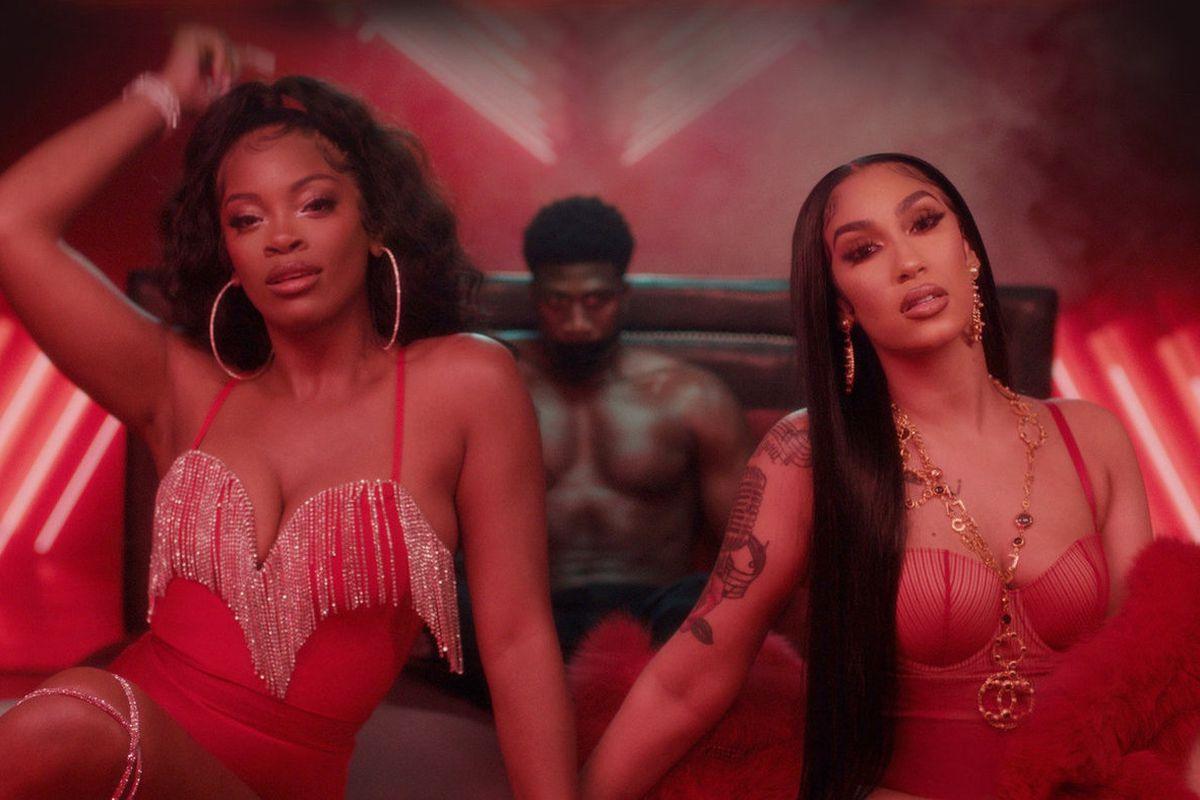 "Queen Naija and Ari Lennox's ""Set Him Up"" artwork"