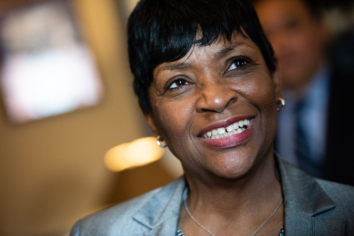 Del. Adrienne Jones is pictured after the election.