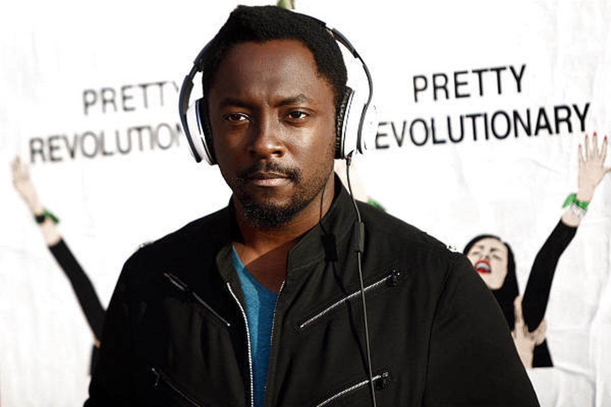 Musician Will.i.am, of the Black Eyed Peas, is seen on set while shooting a promotional video for Pepsi Music Open Studio in Los Angeles on Tuesday.