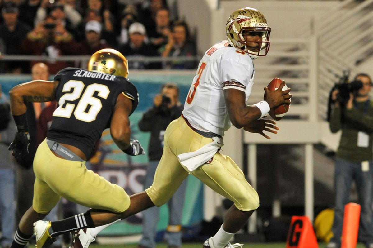 <strong>Safety Jamoris Slaughter is Key to the Irish Secondary</strong> (Photo by Al Messerschmidt/Getty Images)