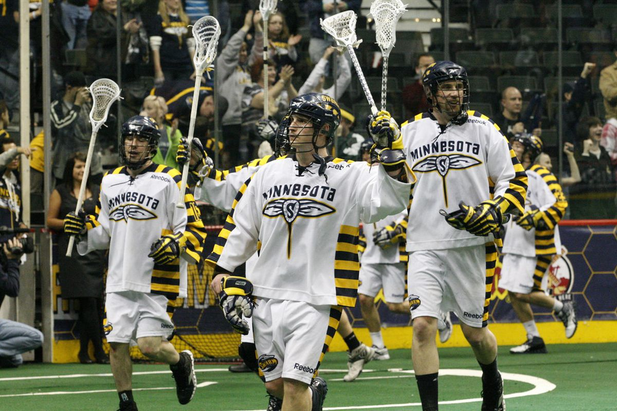 The Swarm celebrate their playoff clinching victory. Photo Credit: Todd Foell, Todd James photography.