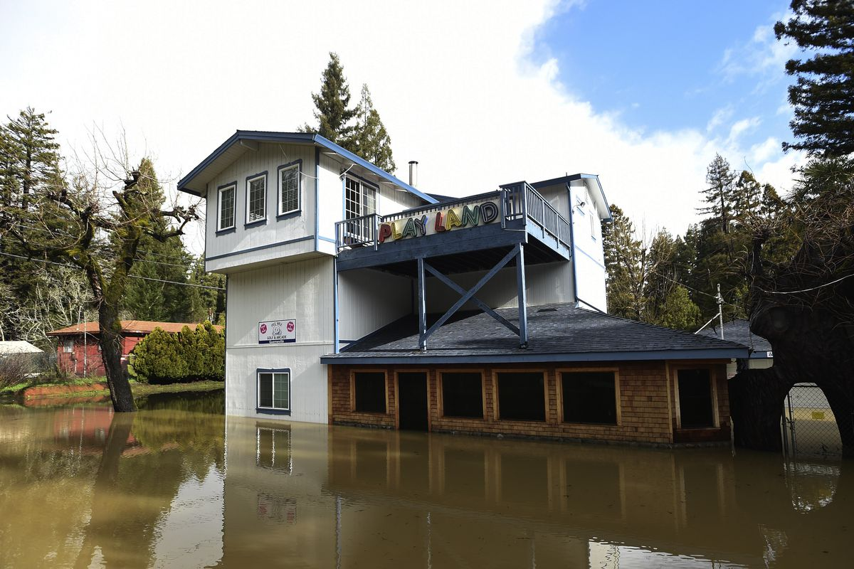Flooding in Guerneville.