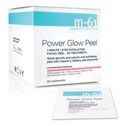 """M-61 Power Glow Peel Pads, (<a href=""""http://www.bluemercury.com//peels/m-61-power-glow-peel.asp"""">$28</a> for box of 10). """"These combine salicylic and glycolic acids that exfoliate and get rid of leftover grime.  They come in individual packettes, making t"""