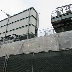Right-field video board nearly completely enclosed -