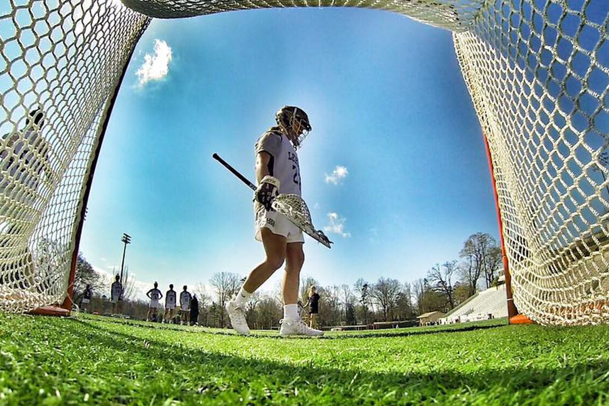 Taylor Tvedt tends goal for the Lehigh women's lacrosse team. And she's darn good.