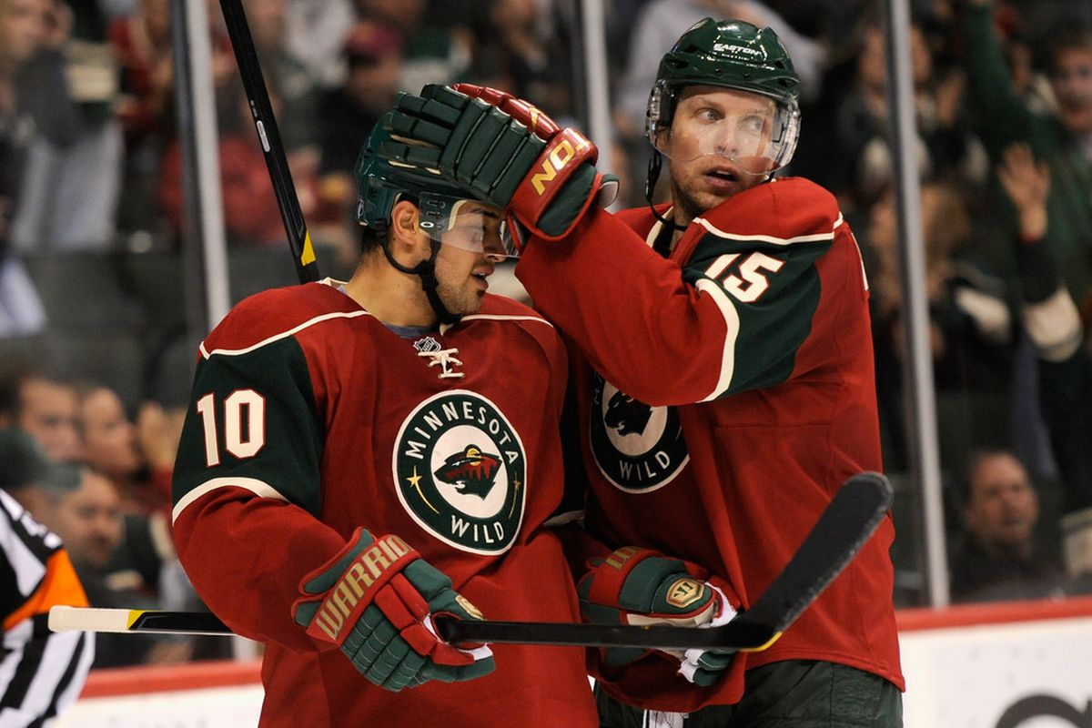Heatley: I hereby bestow all my scoring powers to you! (Photo by Hannah Foslien/Getty Images)