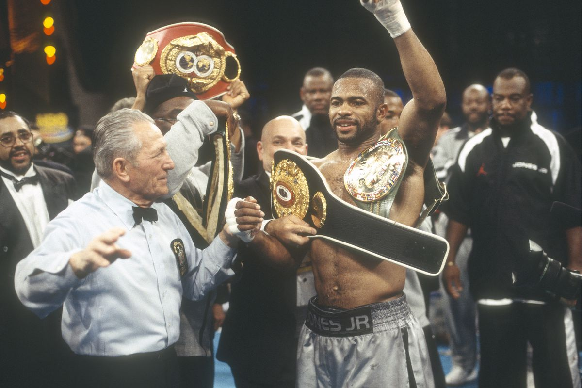 roy jones jr mike tyson fire back at floyd mayweather over comments about boxing introducing too many titles mma fighting roy jones jr mike tyson fire back at