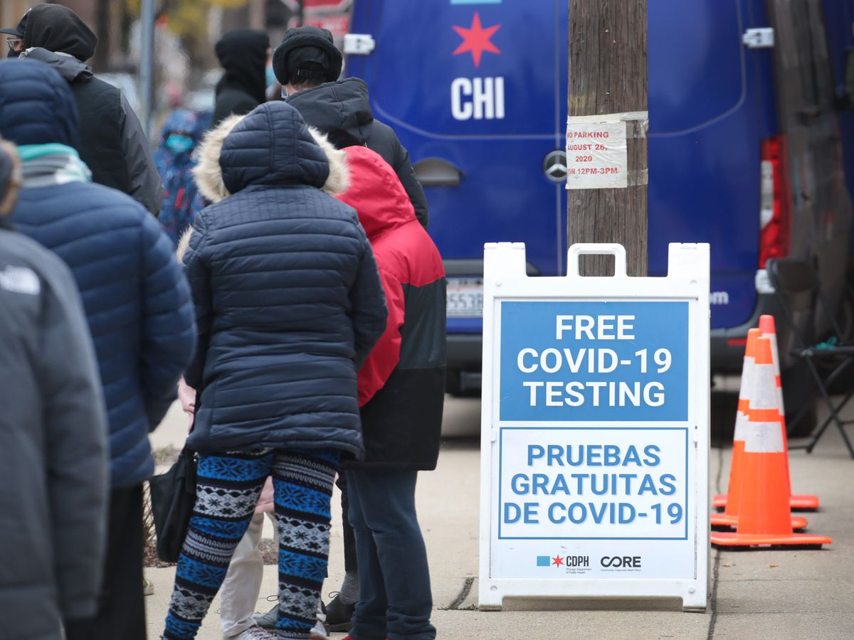 People Wait To Get Tested For Covid After Holiday Weekend