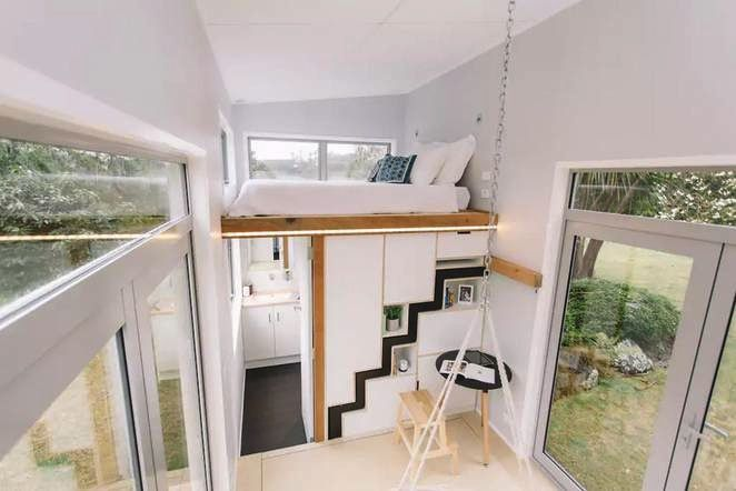 Tiny House For Millennials Has A Retractable Staircase - Curbed