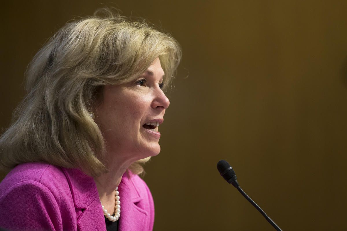Ambassador at Large and Coordinator of the U.S. Government Activities to Combat HIV/AIDS, Dr. Deborah L. Birx testifies on Capitol Hill in Washington, Wednesday, May 6, 2015, before the Senate State, Foreign Operations, and Related Programs subcommittee i