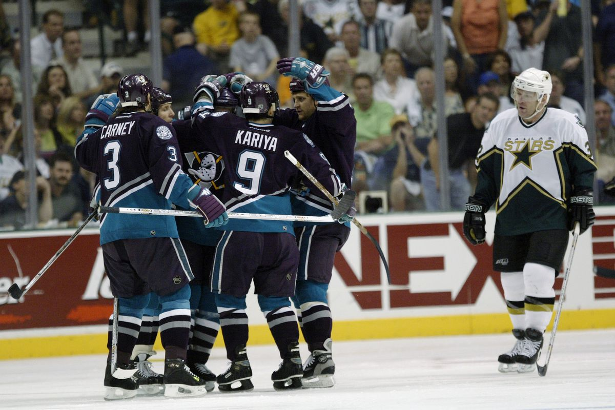 The Mighty Ducks of Anaheim celebrate