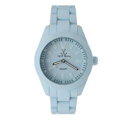 """<a href""""http://www.toywatchusa.com/product/832/Velvety-Blue-Watch-Collection""""> Toy Watch Velvety Watch</a>, $225 toywatchusa.com"""