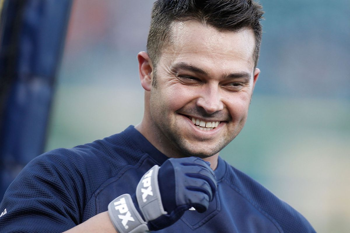 Nick Swisher of the New York Yankees. (Photo by Gregory Shamus/Getty Images)