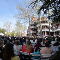 Southern Virginia University graduation on April 27, 2013.