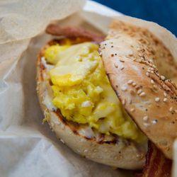 """Breakfast sandwich from Marlow & Sons by <a href=""""http://www.flickr.com/photos/jmoranmoya/5625263071/in/pool-eater/"""">Jmoranmoya</a>."""
