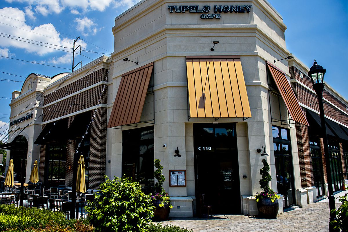 Tupelo Honey Cafe's first Georgia location is located off of Roswell Road in Sandy Springs.