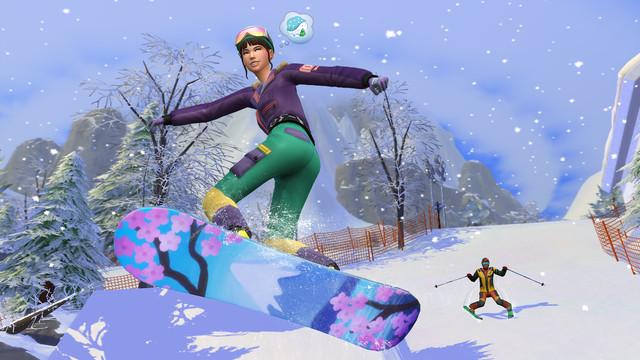 a sim snowboarding