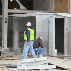2:53 p.m. Is this a walk-in cooler being installed by the main bleacher gate -