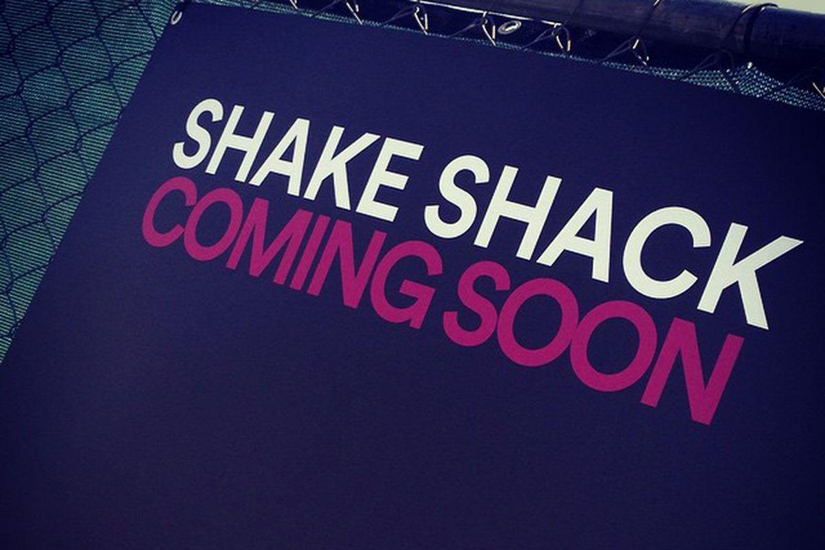 Shake Shack's sign at the Domain