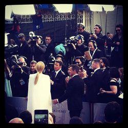 The back of Gwyneth Paltrow's futuristic Tom Ford cape.
