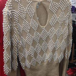 Hand-knit wool sweater, $60