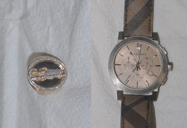 Authorities released photos of a ring and watch worn by someone found shot to death in a ditch on June 21 in Will County, in the hopes that someone will recognize the jewelry and help investigators identify the victim. | Will County sheriff's office