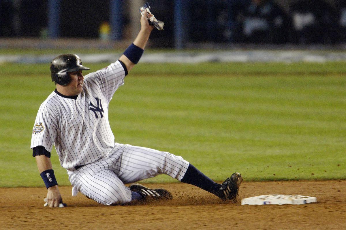 Karim Garcia slides safely into second base