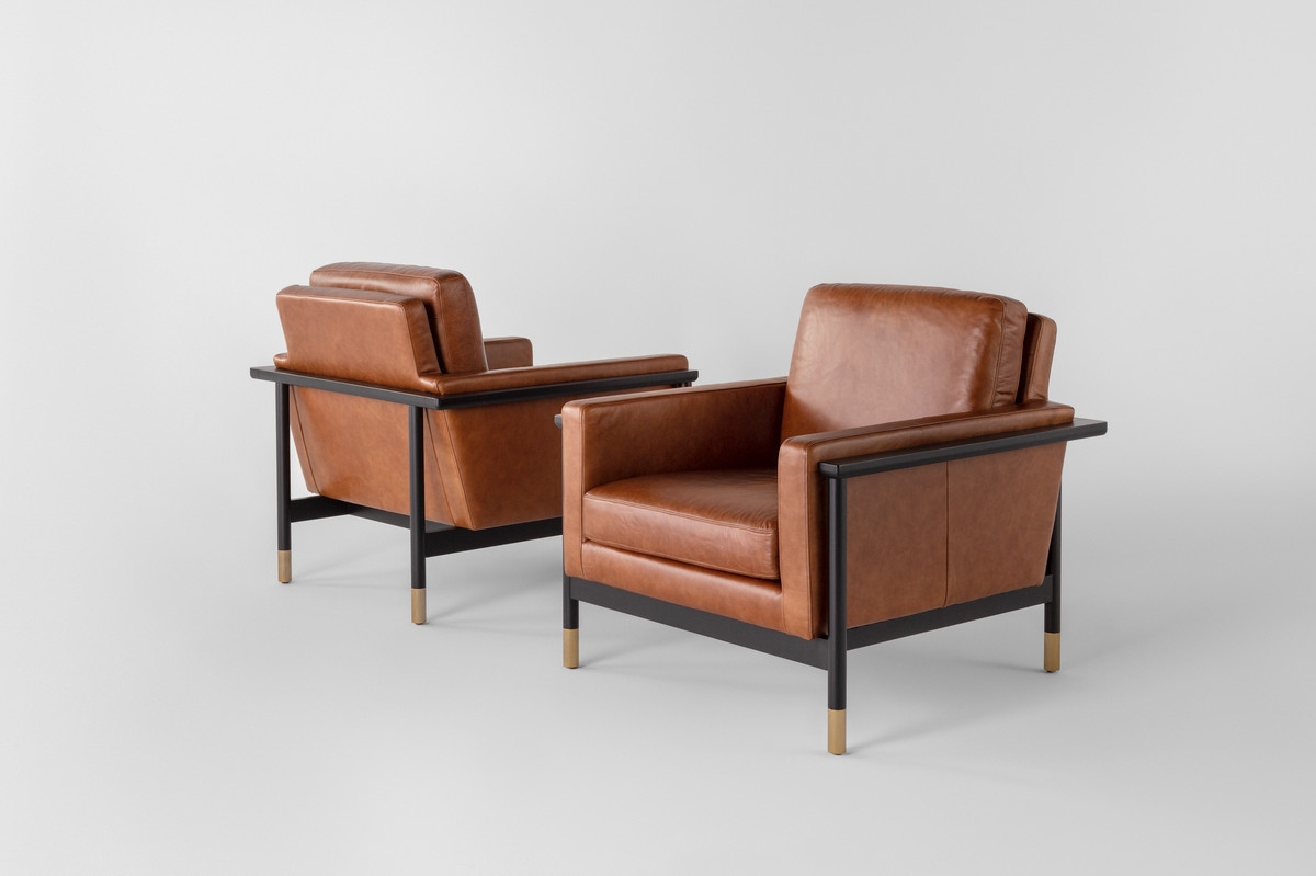 Two leather chairs