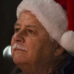 """Ed Snoddy attends the """"Homeless Persons' Memorial Candlelight Vigil"""" at Pioneer Park in Salt Lake City on Tuesday, Dec. 13, 2016. The vigil honors all the homeless people who have died in the past year. As of that evening, 97 homeless people had died in the Salt Lake area in 2016."""