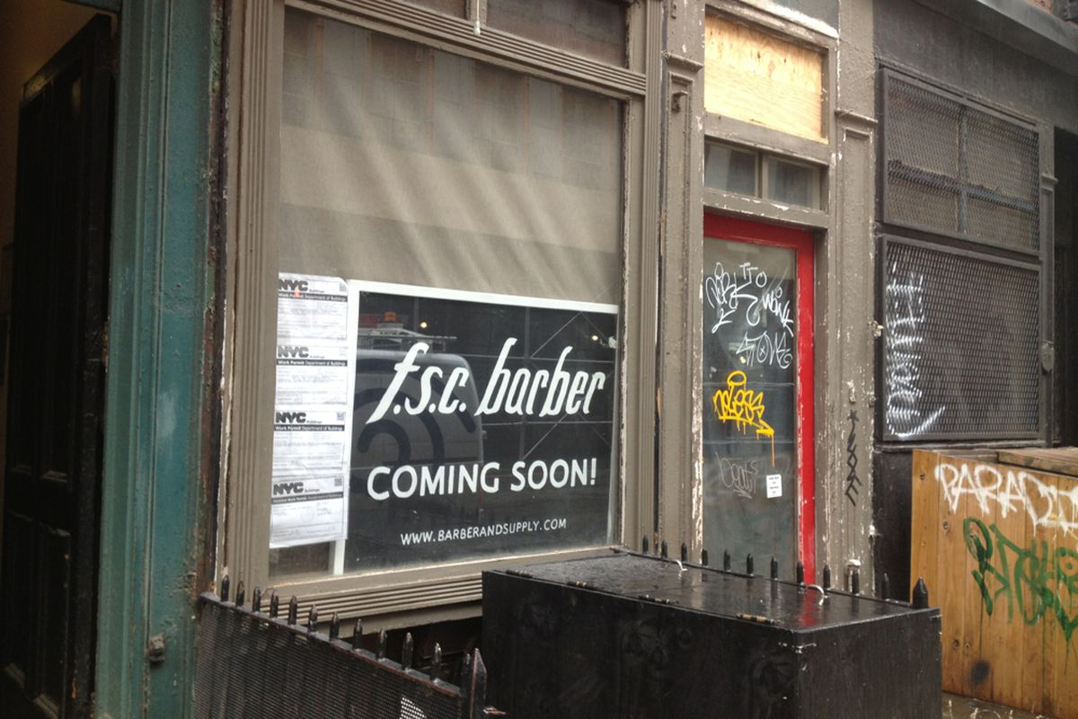 Earlier this month at the site of what will now be called Fellow Barber