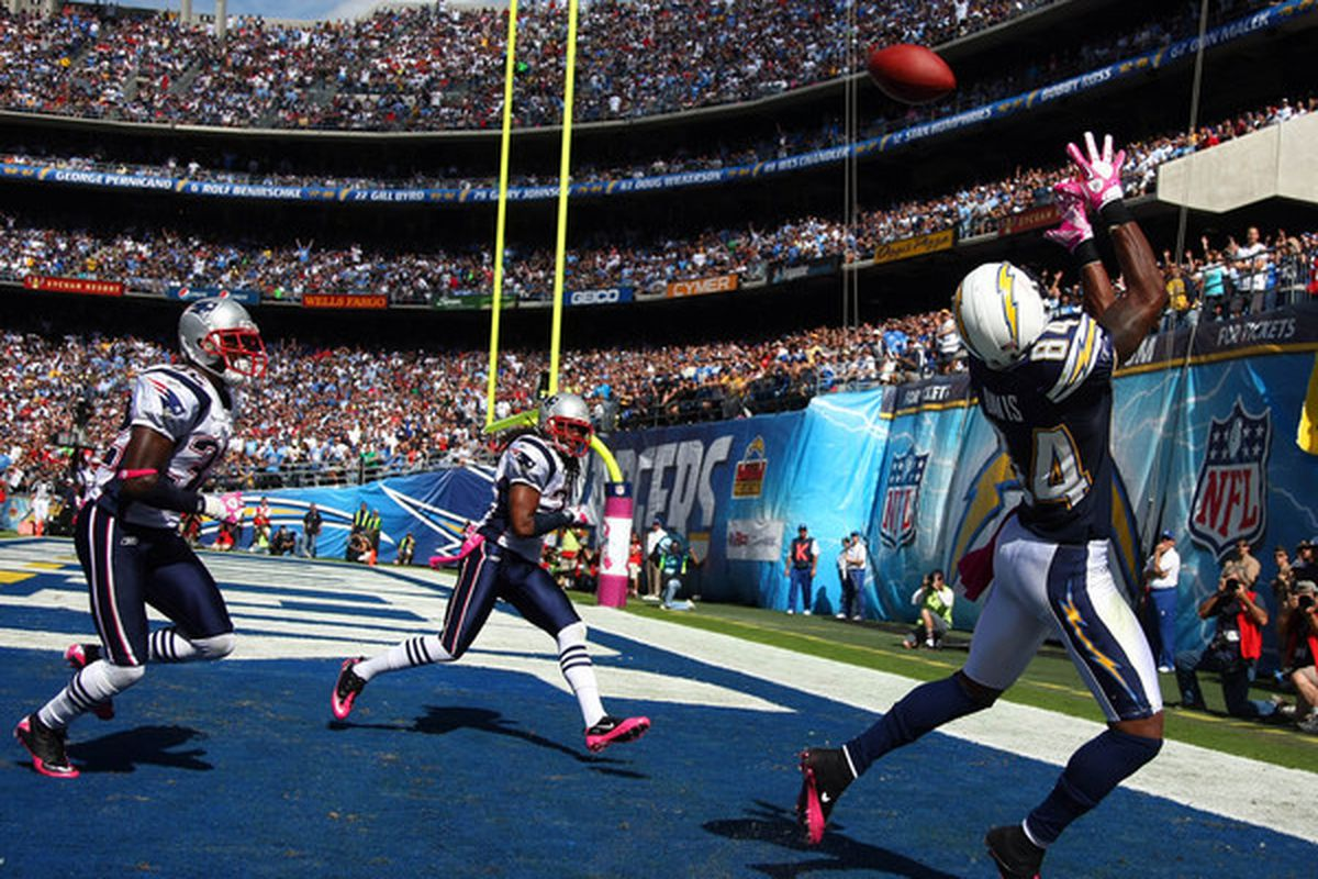 Wide Receiver Buster Davis #84 of the San Diego Chargers. (Photo by Donald Miralle/Getty Images)