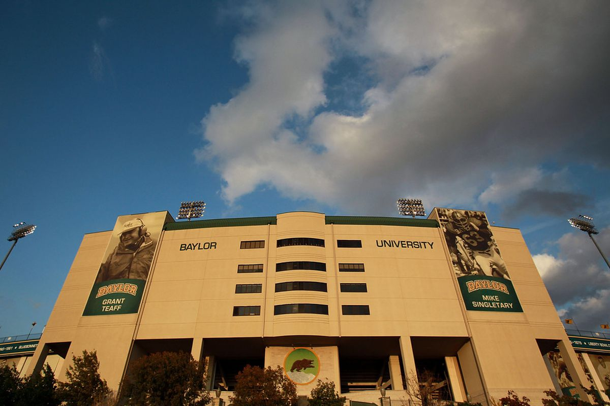 WACO, TX - NOVEMBER 19:  A general view of Floyd Casey Stadium before a game between the Oklahoma Sooners and the Baylor Bears on November 19, 2011 in Waco, Texas.  (Photo by Ronald Martinez/Getty Images)
