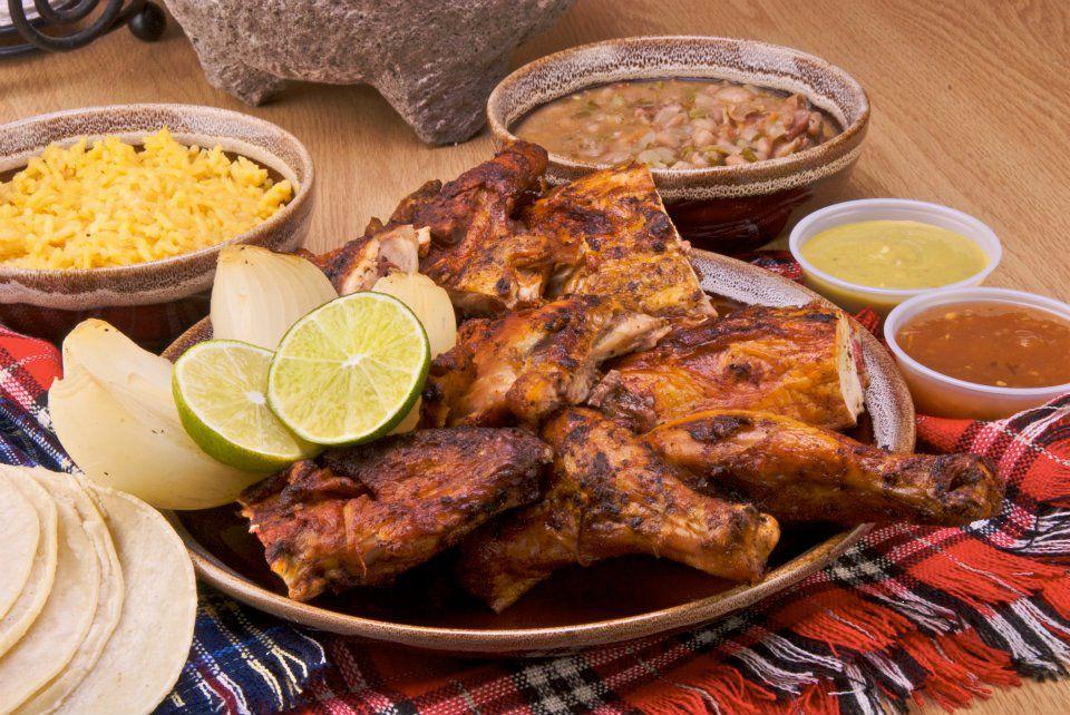 The chicken meal at El Pollo Regio