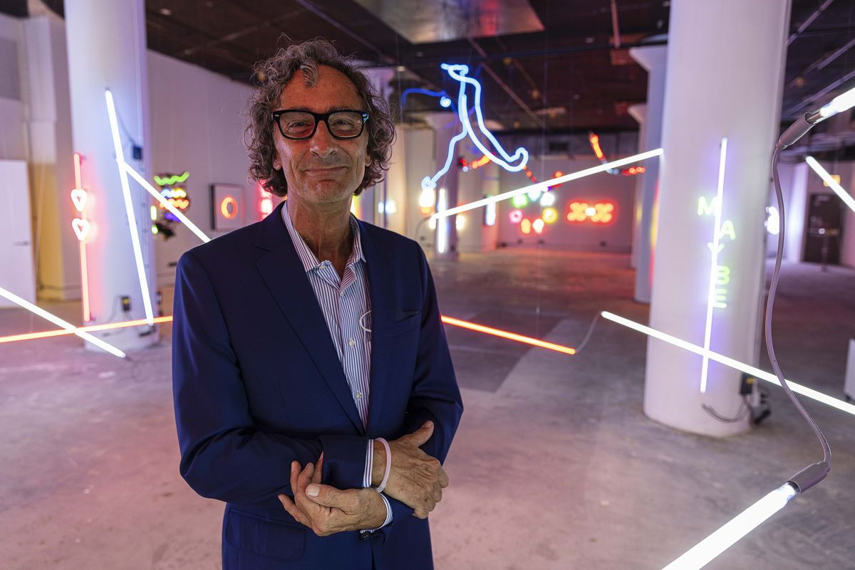 """""""[Neon] represents a positive vibe: when it once was simply a utilitarian, functional tool that people used to sell things,"""" says Ken Saunders, the director and curator of the Neon and Light Museum."""