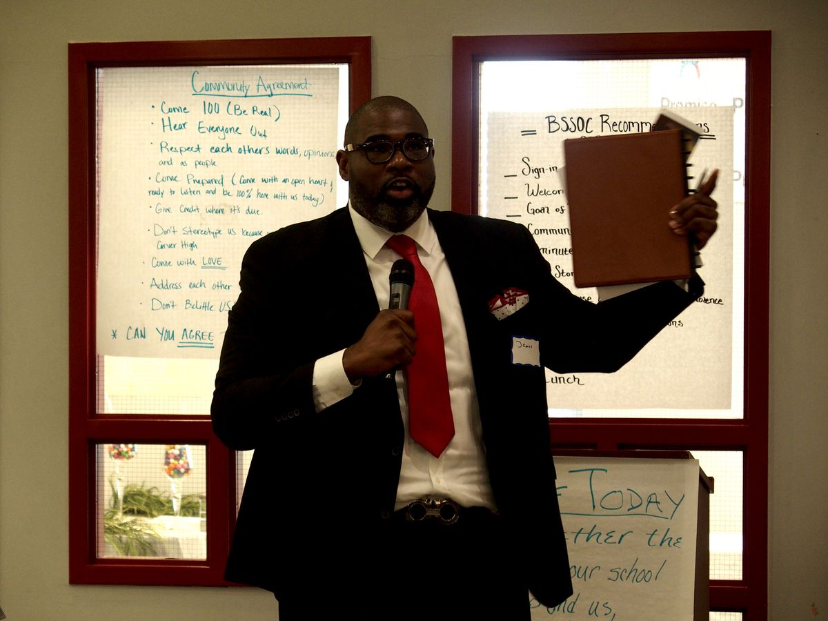 James Suggs, principal at G.W. Carver College and Career Academy