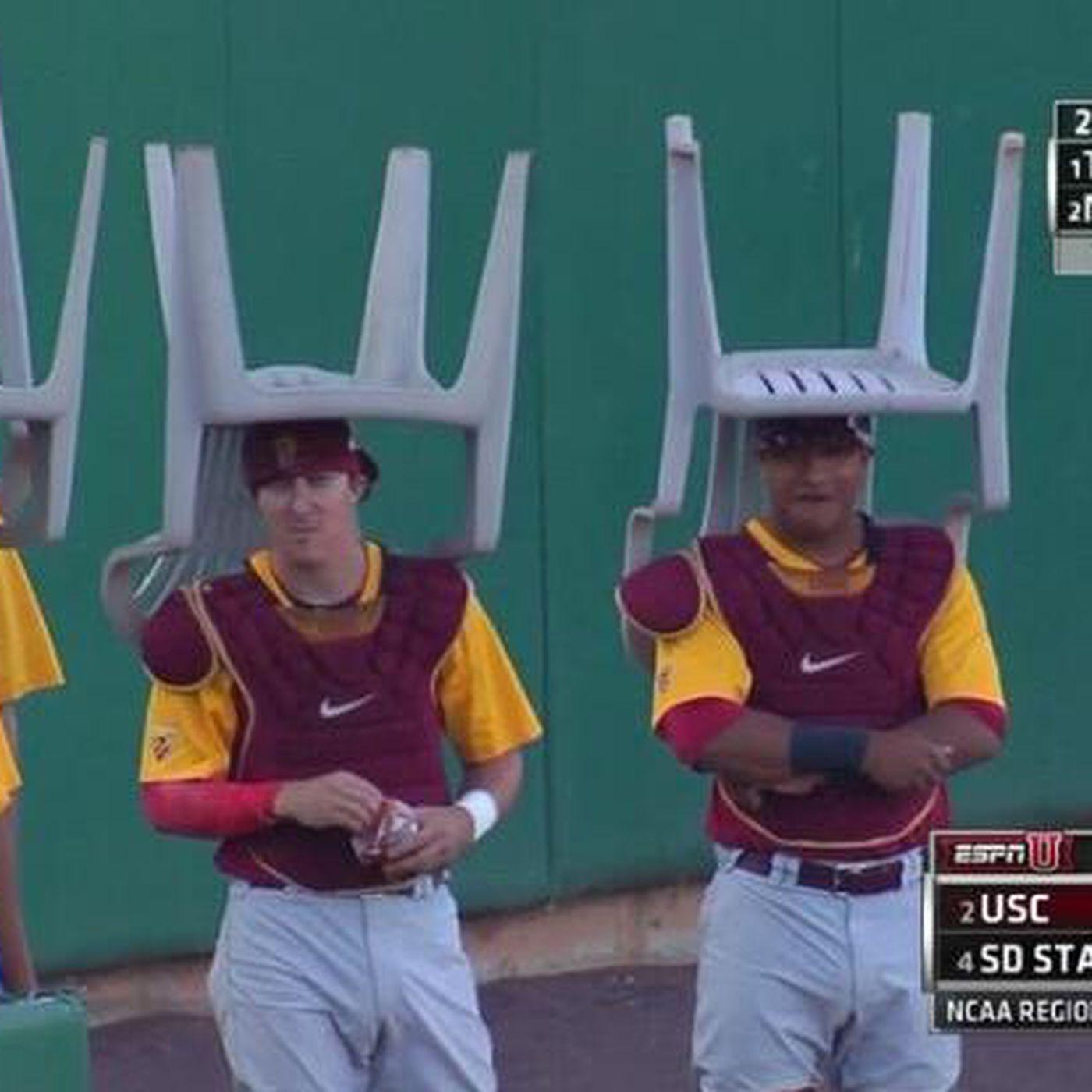 USC baseball breaks out rally lawn chair hats - SBNation com