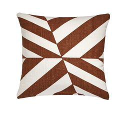 Changes brown and white pillow, $59.95