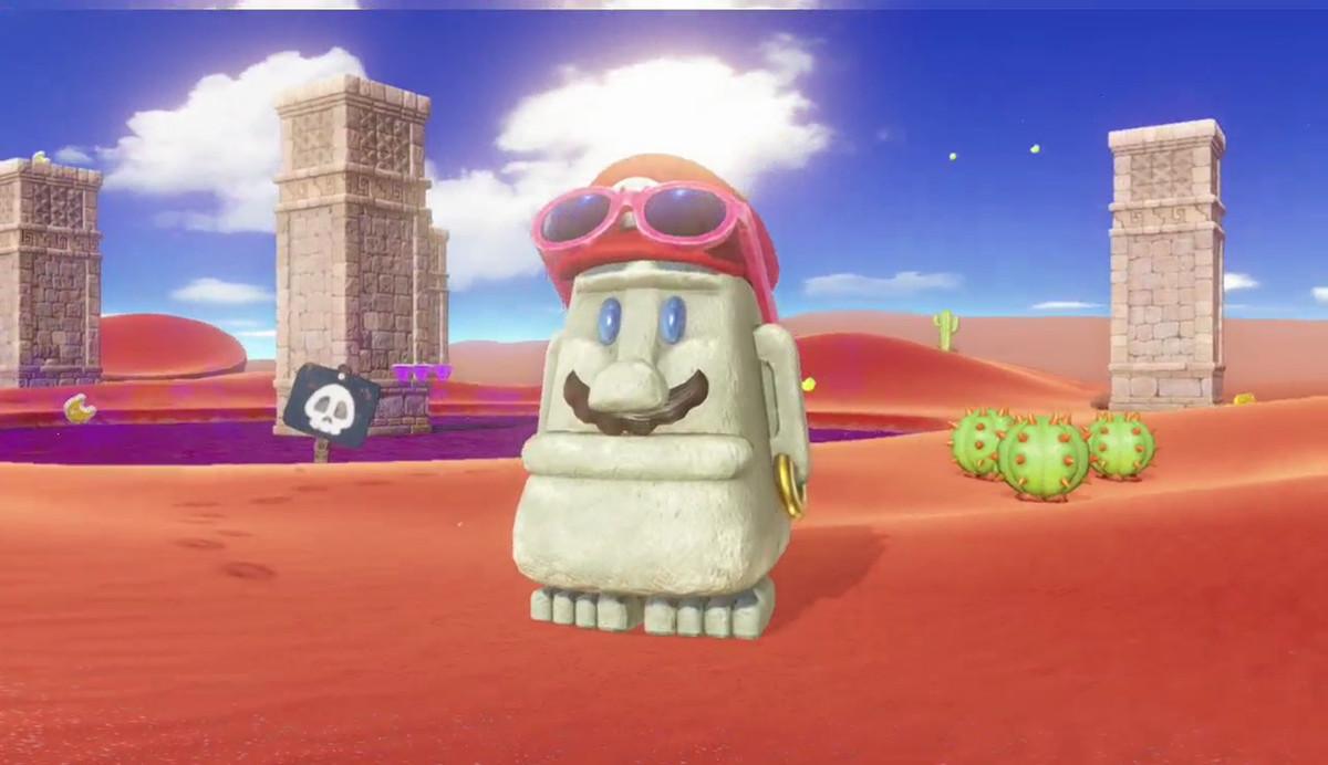 Super Mario Odyssey - Mario as a statue