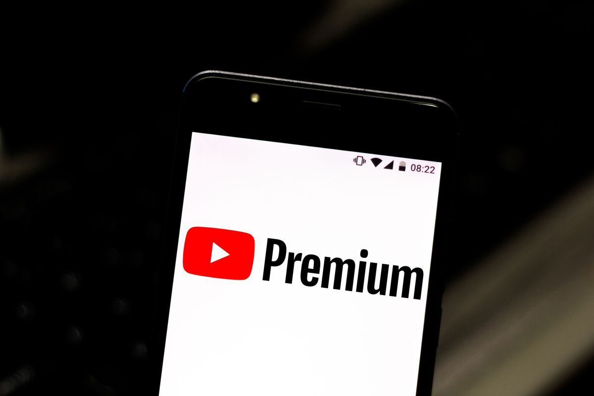 In this photo illustration the YouTube Premium logo is seen...