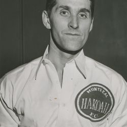 Goalkeeper Bill Gill of Montreal Hakoah and Montreal All-Stars